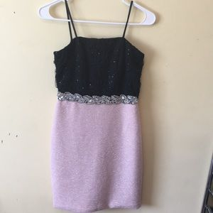 Dresses & Skirts - Black and pink sparkly dress